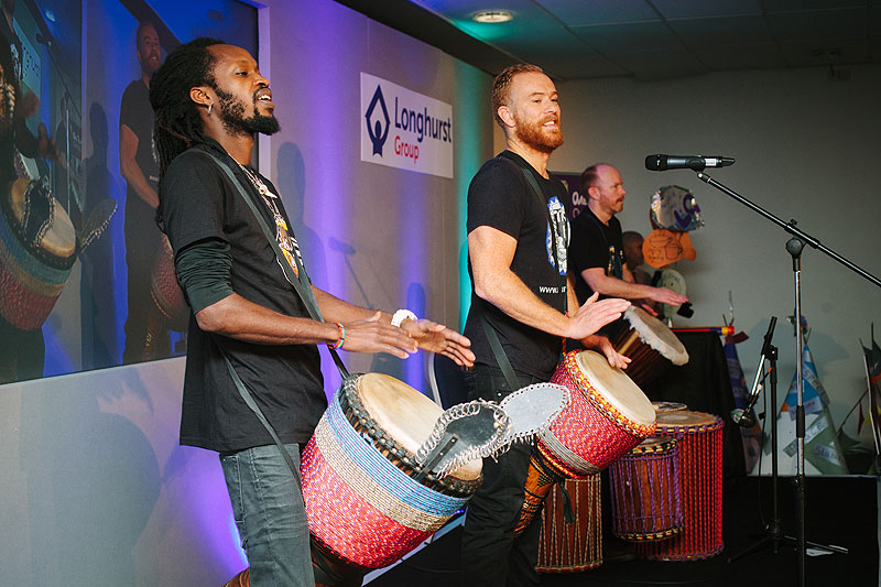 Drum Cafe offer corporate drumming and event entertainment for team building and conferences