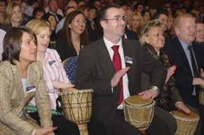 Interactive Drumming is an ideal team Training Activity