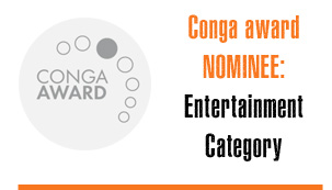 Conga Award Nominee in the Entertainment Category