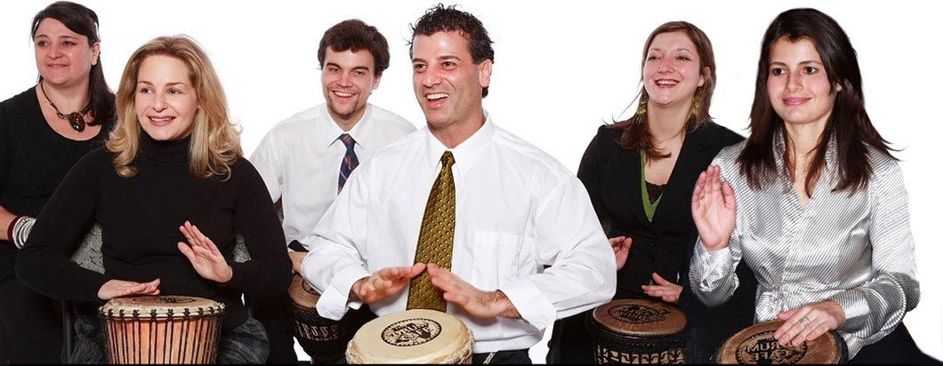 Interactive Group Drumming for Team Building events