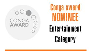 Drum Cafe is Nominated for the Conga Award in the Entertainment Category