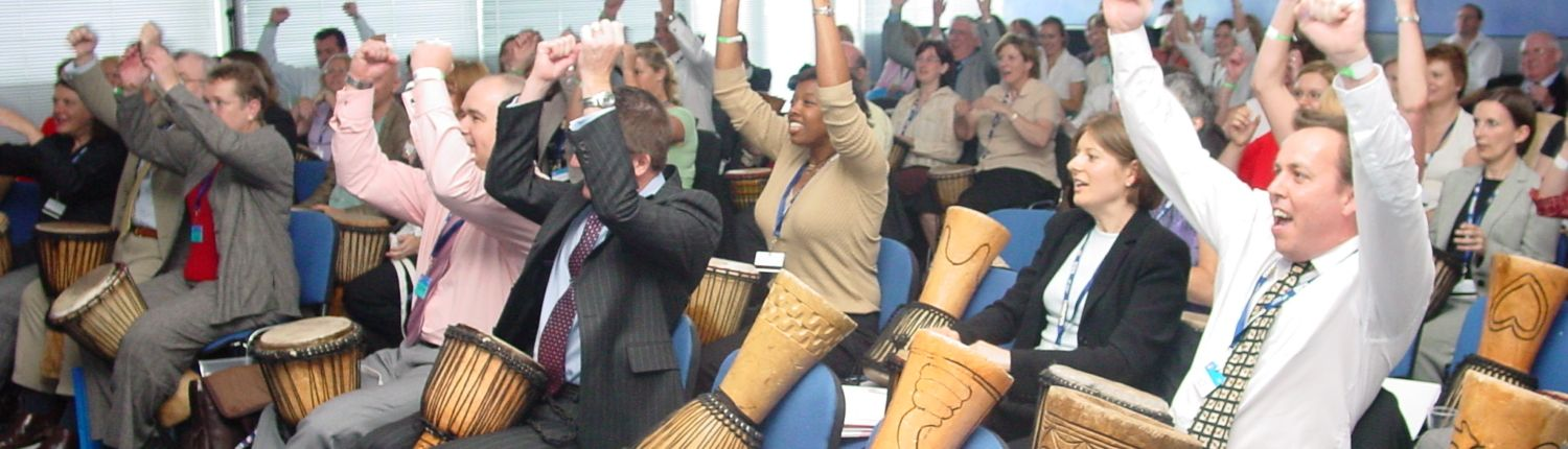 interactive Drumming is an ideal Team building exercise to create Unity among your team