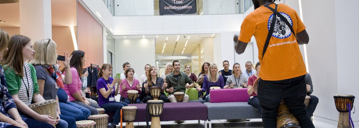 Drum Sessions and African Drumming Workshops are ideal for Team Building