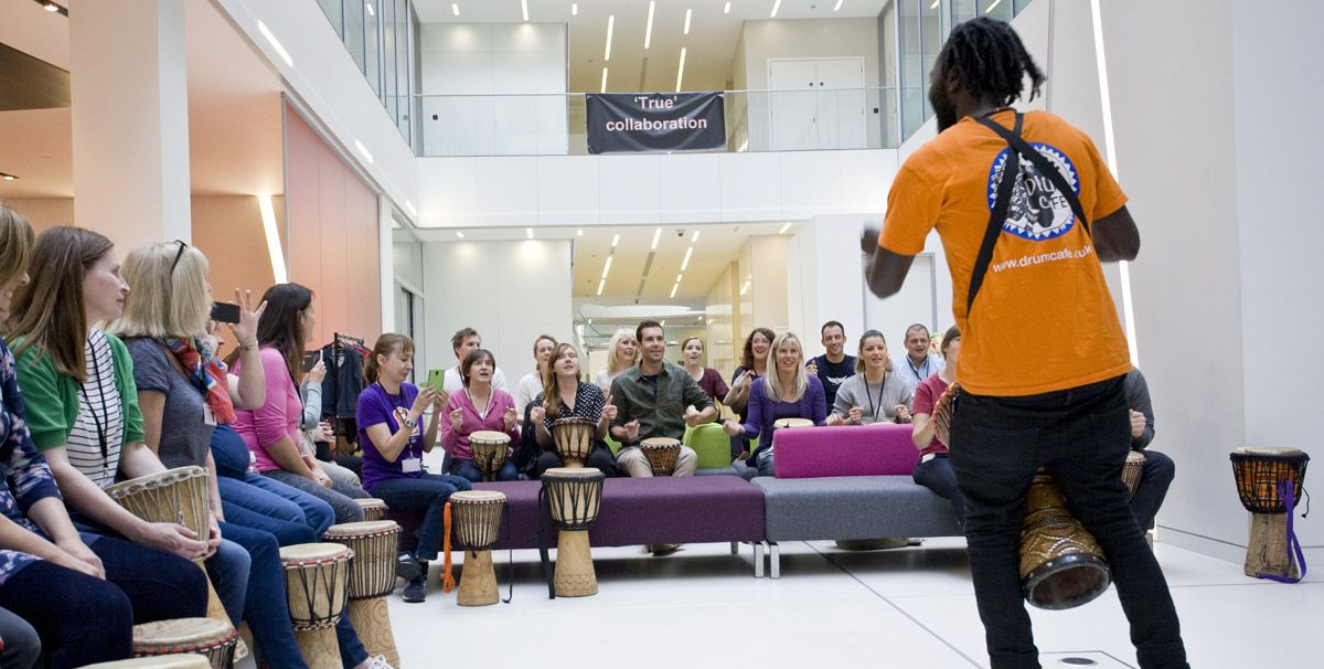 African Drumming Workshops are the ideal team building activity
